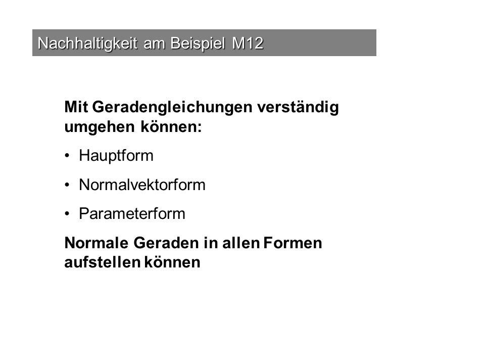 Nachhaltigkeit am Beispiel M12