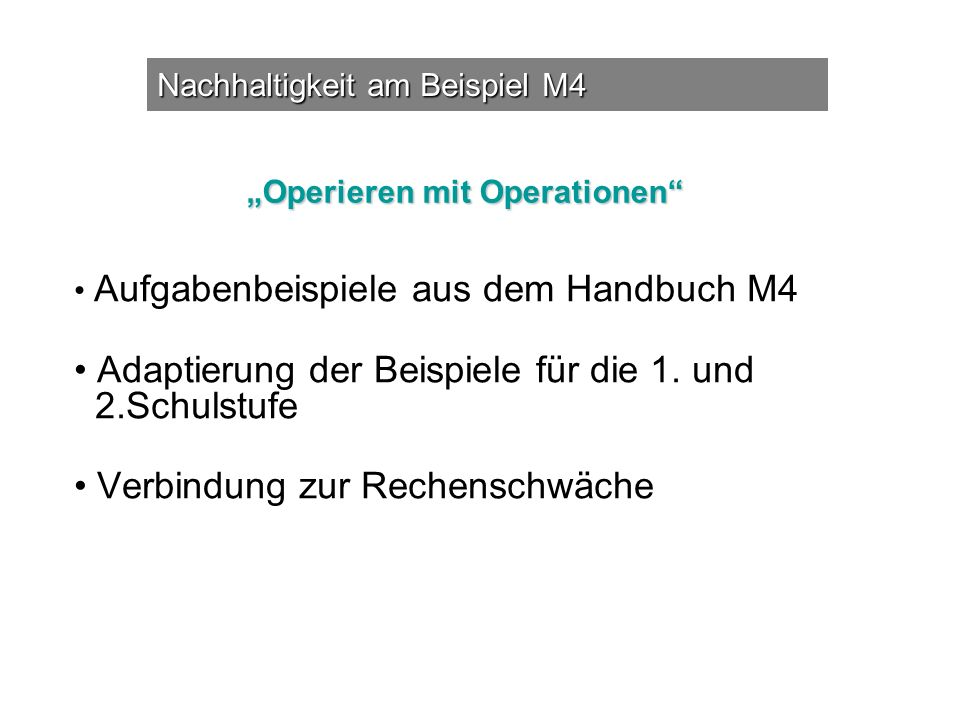 """Operieren mit Operationen"