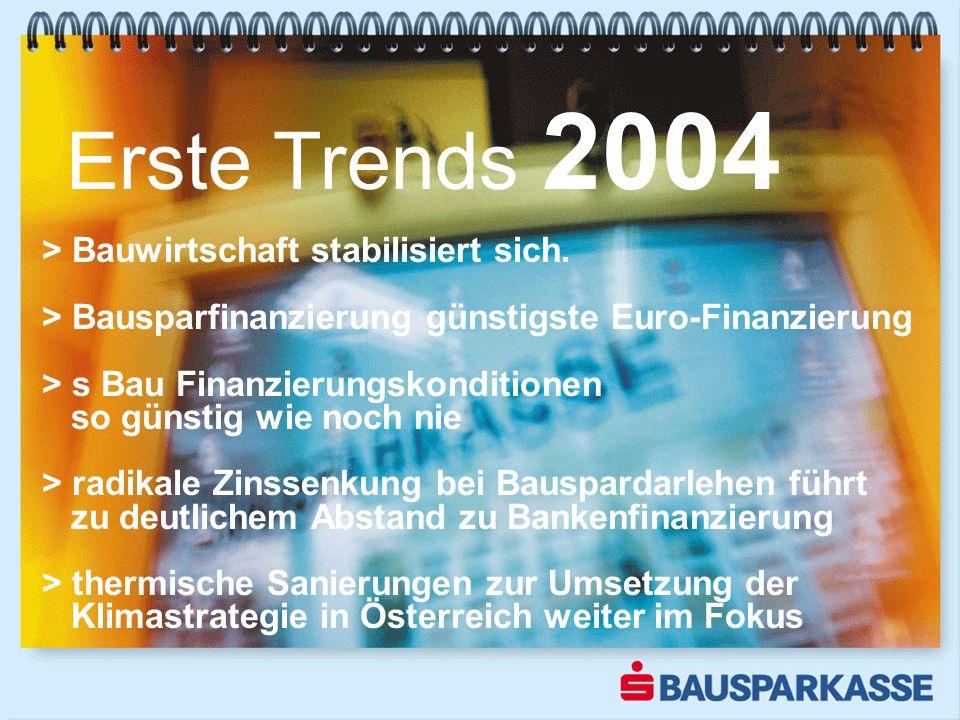 Erste Trends 2004 > Bauwirtschaft stabilisiert sich.