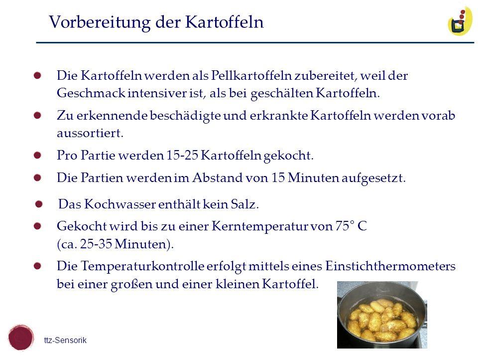 Vorbereitung der Kartoffeln
