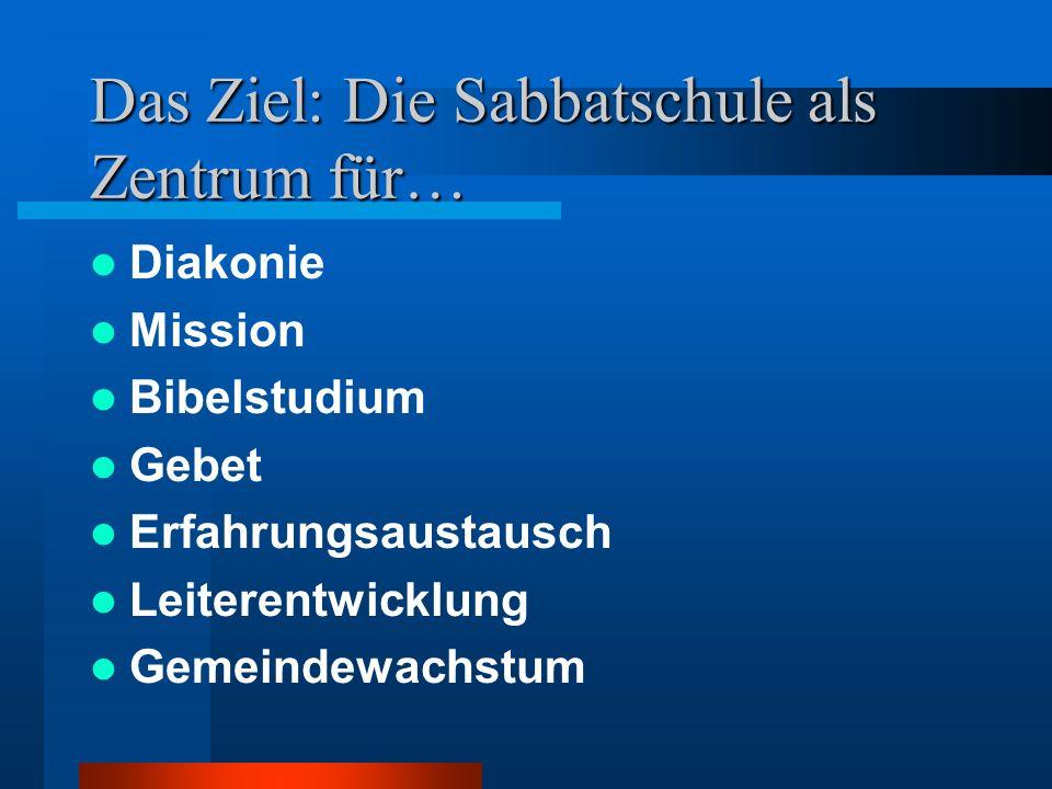 Das Ziel: Die Sabbatschule als Zentrum für…
