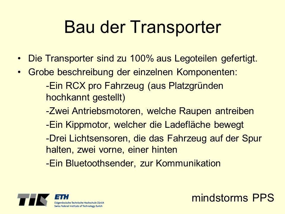 Bau der Transporter Die Transporter sind zu 100% aus Legoteilen gefertigt. Grobe beschreibung der einzelnen Komponenten: