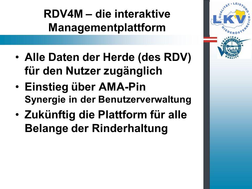 RDV4M – die interaktive Managementplattform