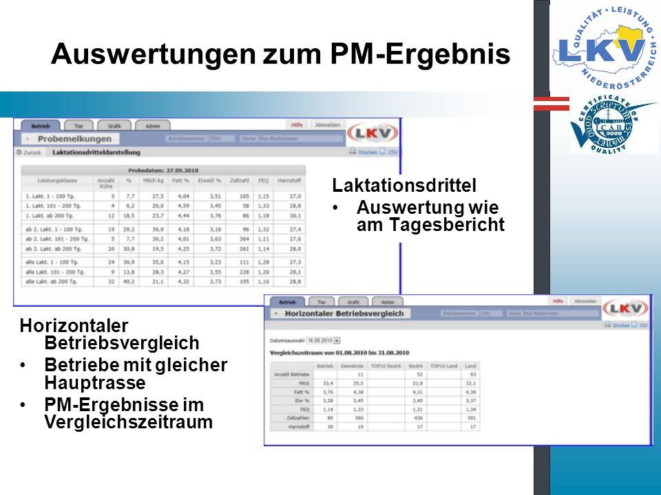 Auswertungen zum PM-Ergebnis