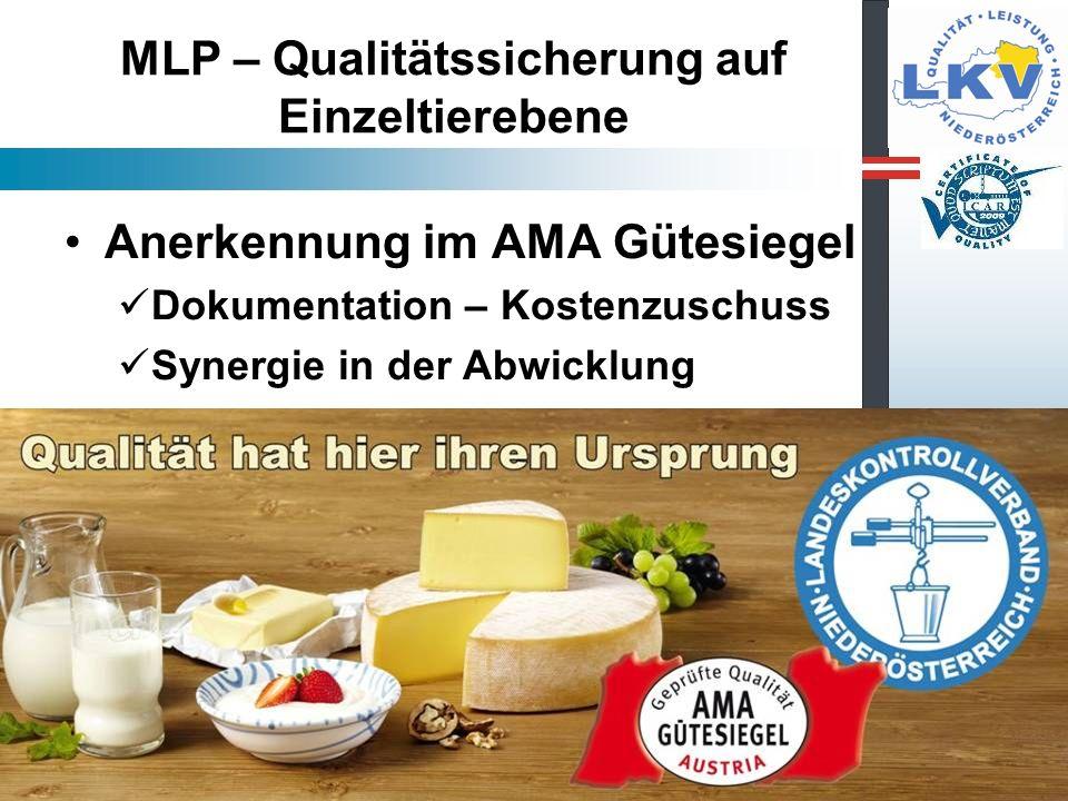 MLP – Qualitätssicherung auf Einzeltierebene