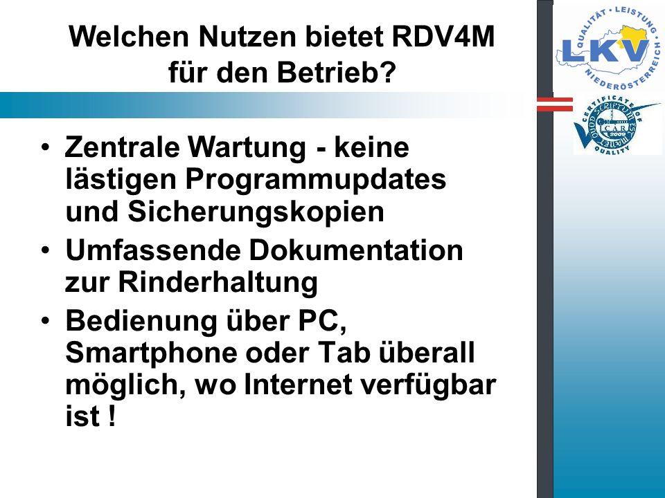 Welchen Nutzen bietet RDV4M für den Betrieb