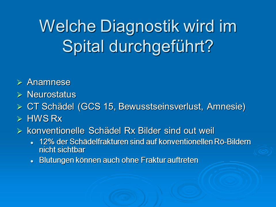 Welche Diagnostik wird im Spital durchgeführt
