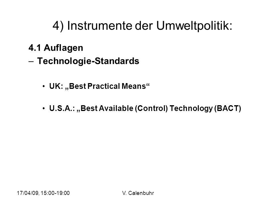 4) Instrumente der Umweltpolitik: