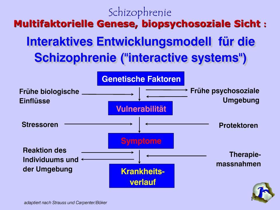 Multifaktorielle Genese, biopsychosoziale Sicht :