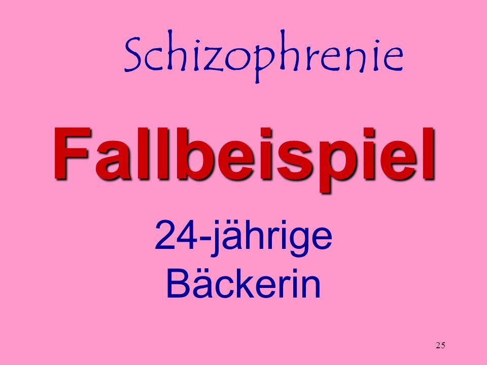 Schizophrenie Fallbeispiel 24-jährige Bäckerin Keel - Schizophrenie