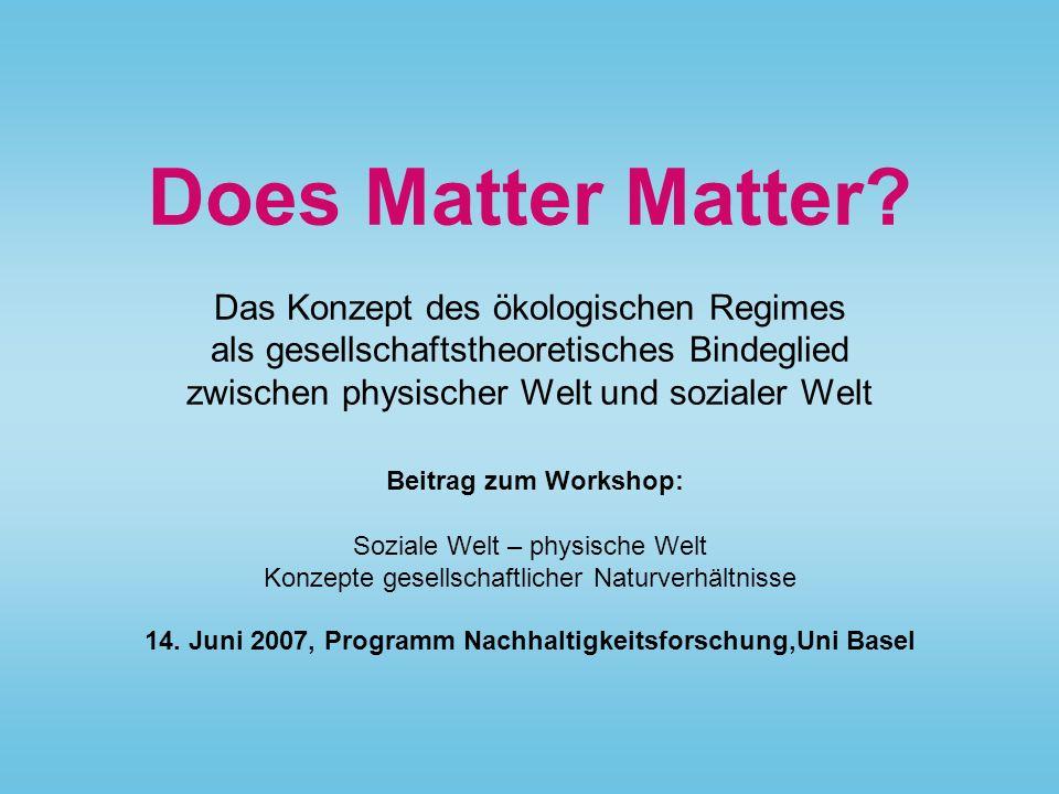 Does Matter Matter.
