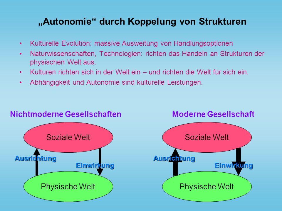 """""""Autonomie durch Koppelung von Strukturen"""