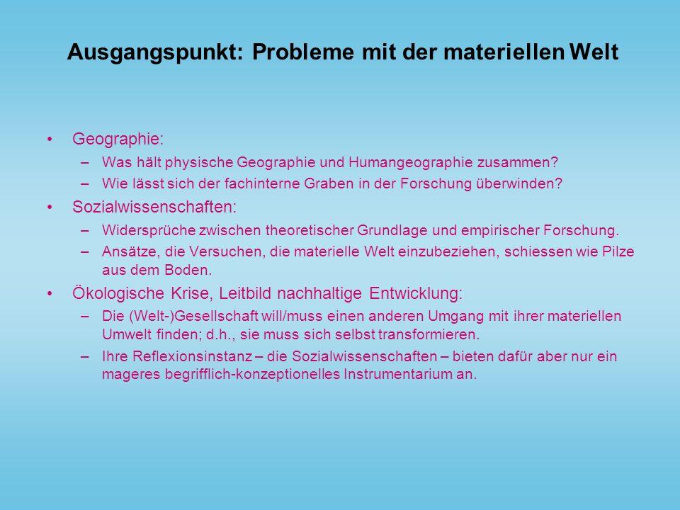 Ausgangspunkt: Probleme mit der materiellen Welt