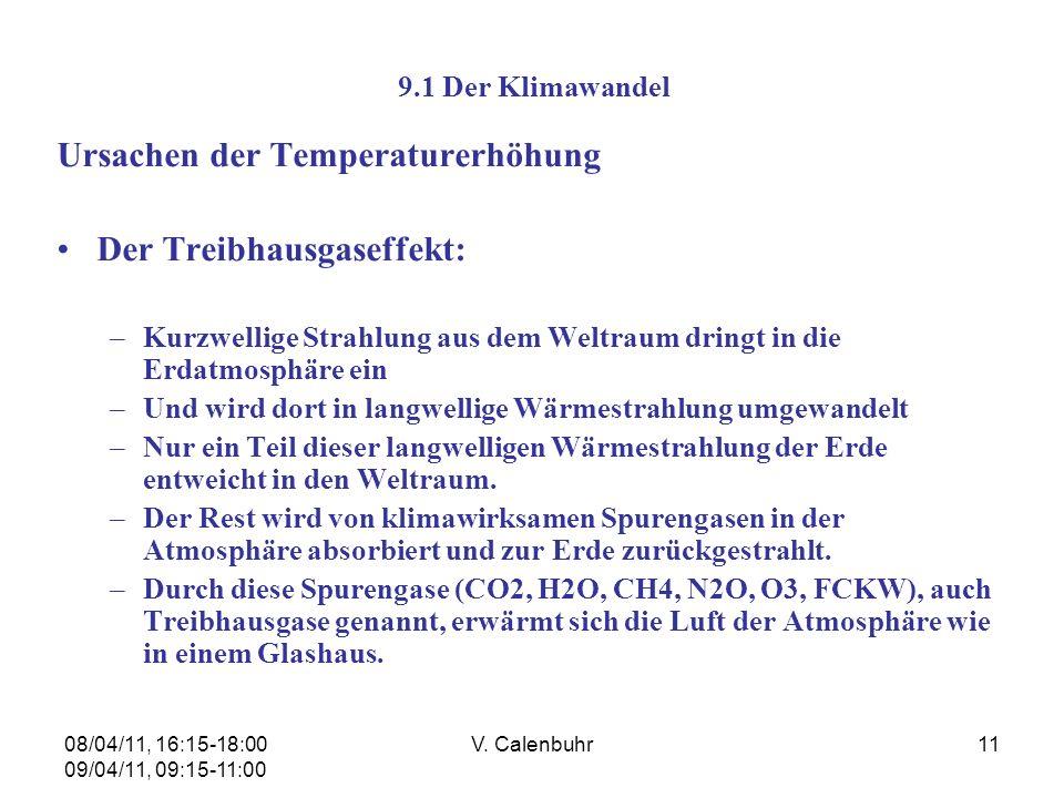 Ursachen der Temperaturerhöhung Der Treibhausgaseffekt: