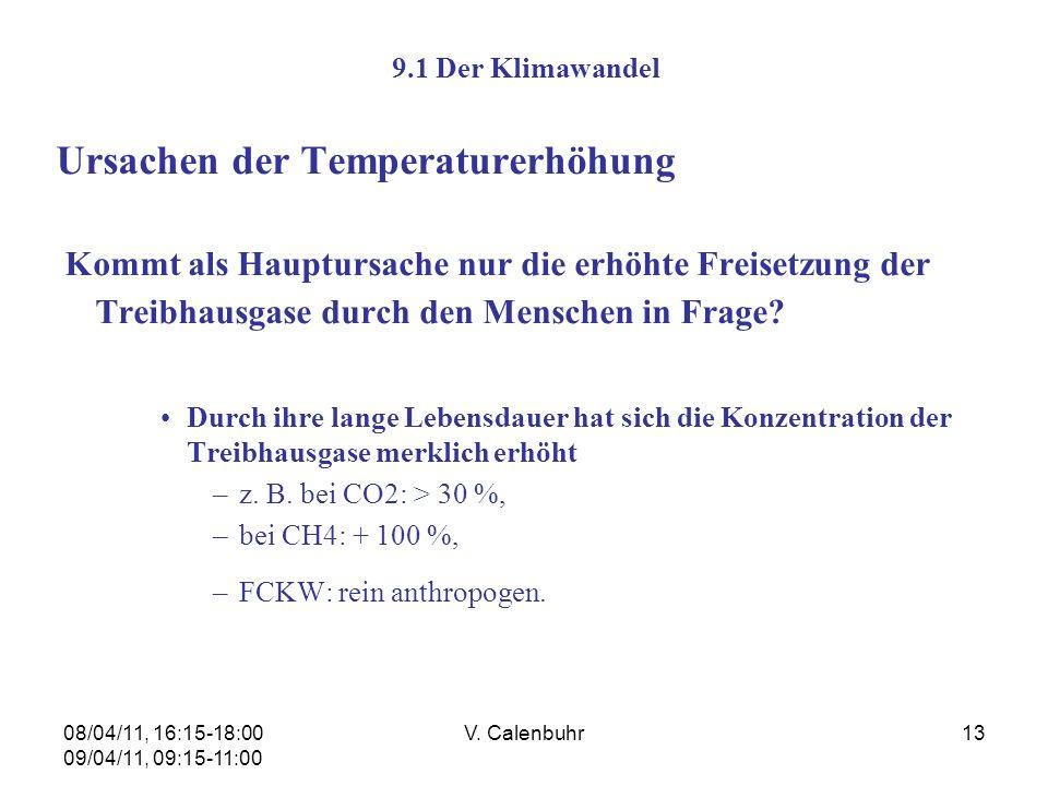 Ursachen der Temperaturerhöhung