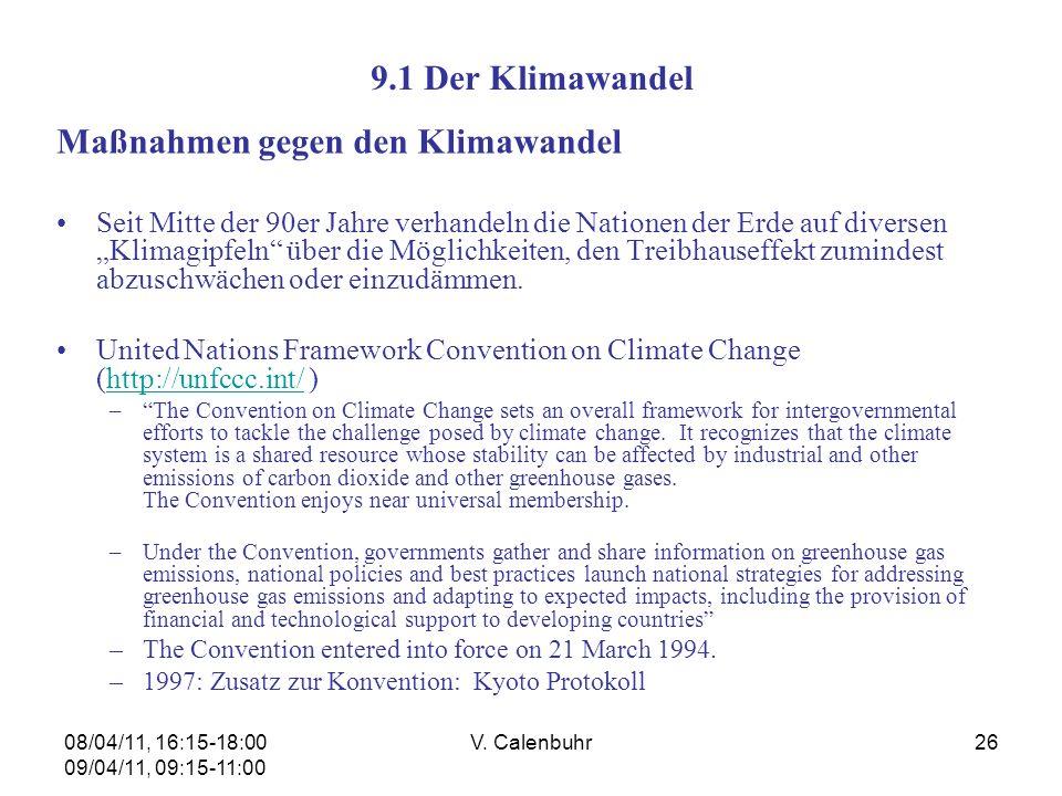 Maßnahmen gegen den Klimawandel