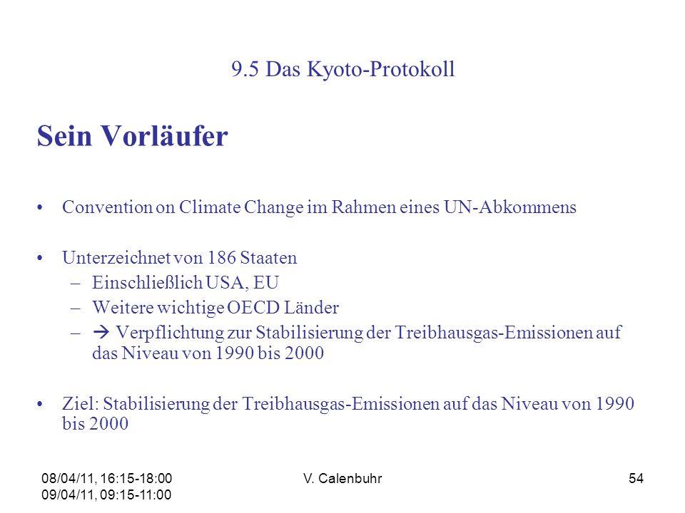 Sein Vorläufer 9.5 Das Kyoto-Protokoll