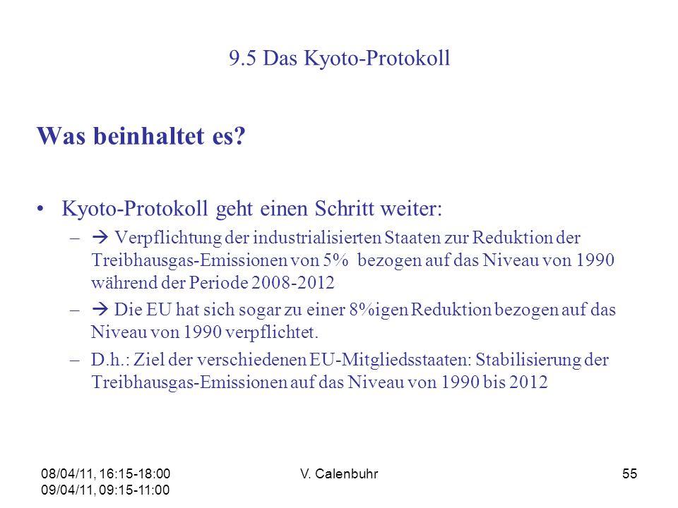 Was beinhaltet es 9.5 Das Kyoto-Protokoll