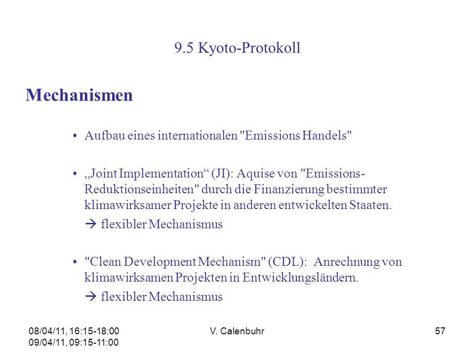 Mechanismen 9.5 Kyoto-Protokoll