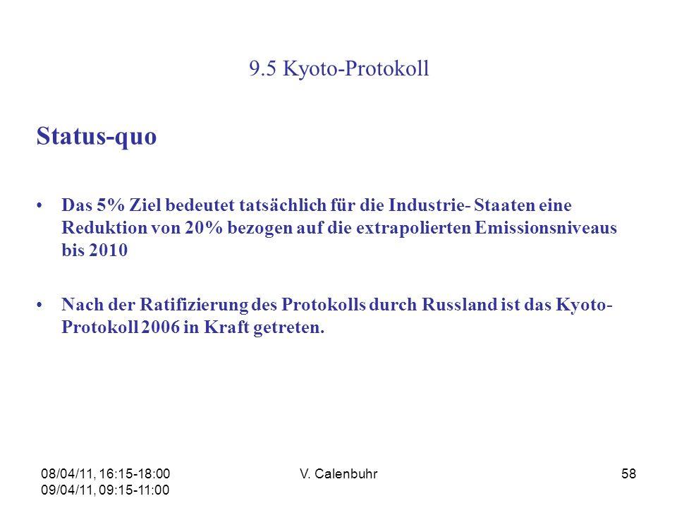 Status-quo 9.5 Kyoto-Protokoll