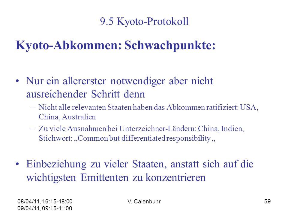 Kyoto-Abkommen: Schwachpunkte: