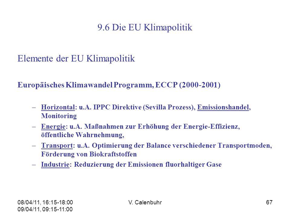 Elemente der EU Klimapolitik