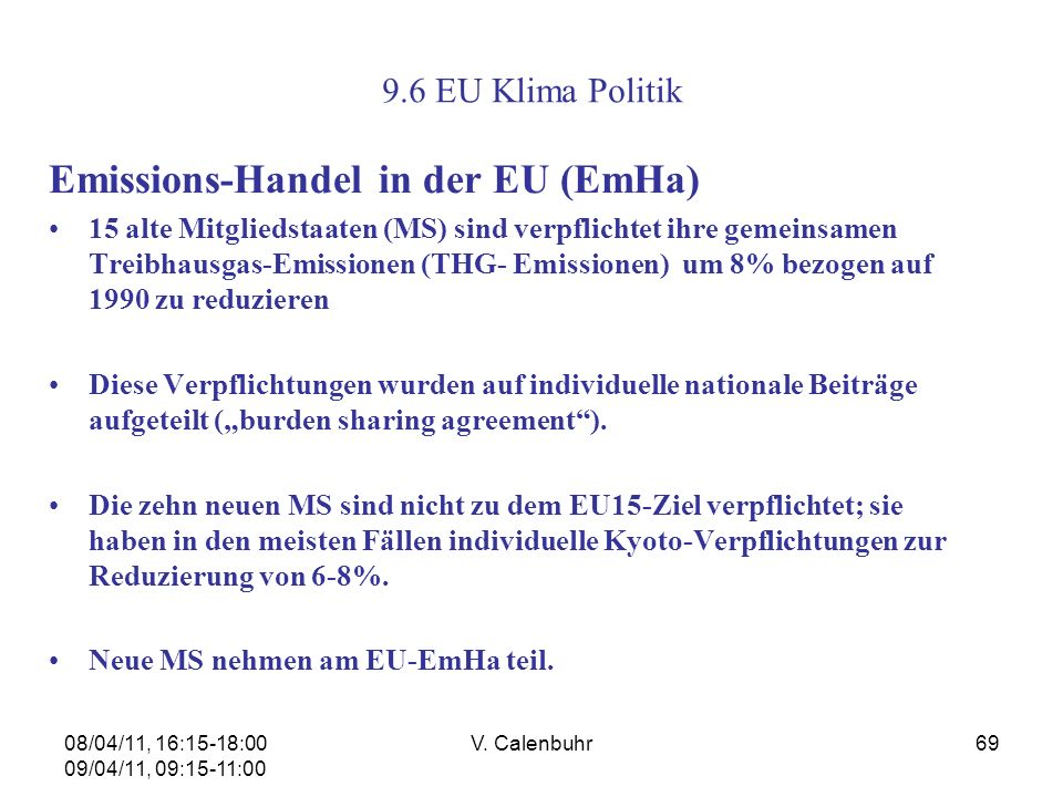 Emissions-Handel in der EU (EmHa)