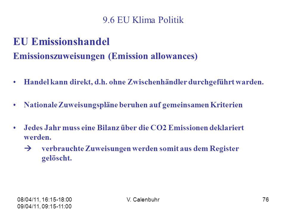 EU Emissionshandel 9.6 EU Klima Politik