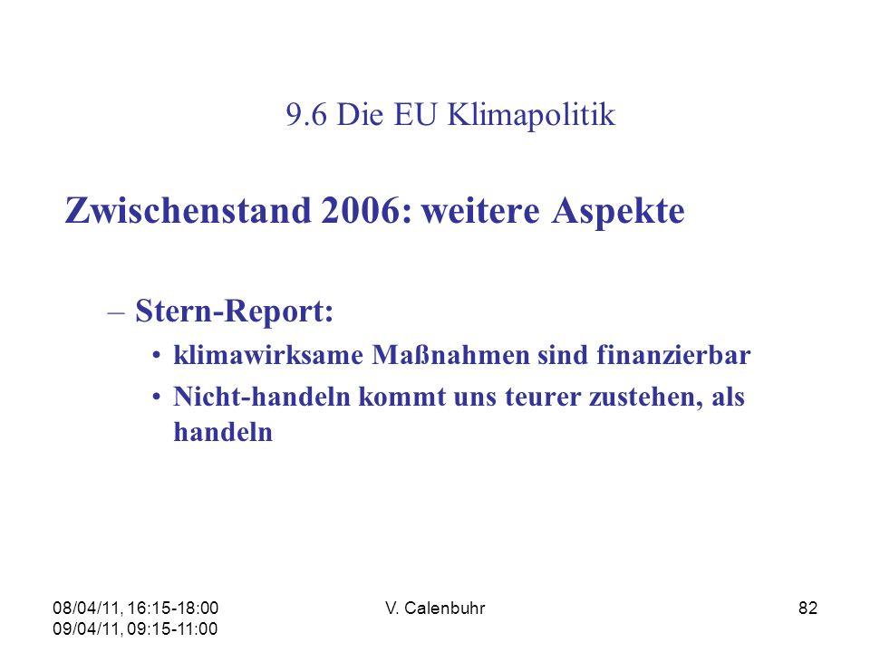 Zwischenstand 2006: weitere Aspekte