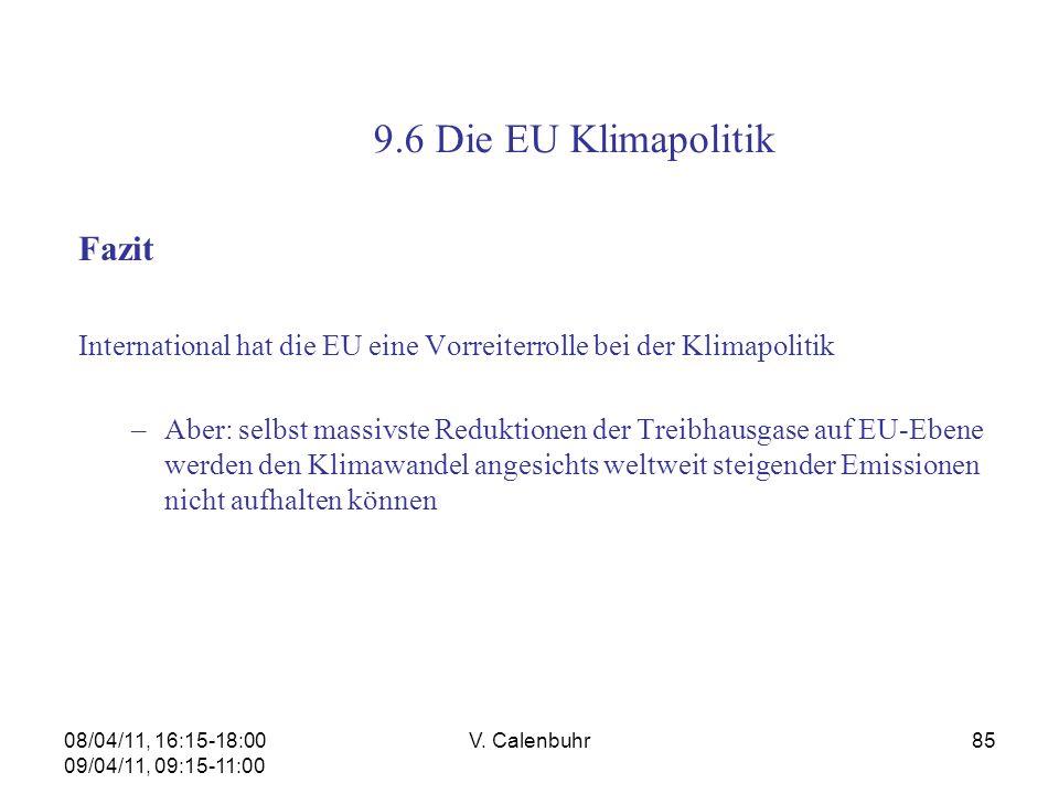 9.6 Die EU Klimapolitik Fazit