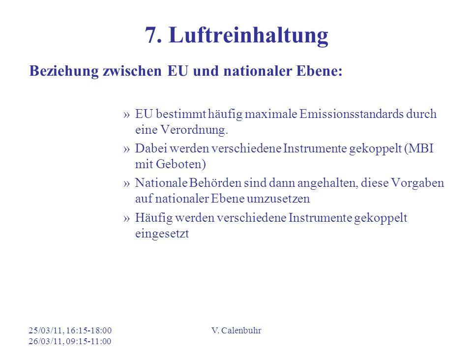 7. Luftreinhaltung Beziehung zwischen EU und nationaler Ebene: