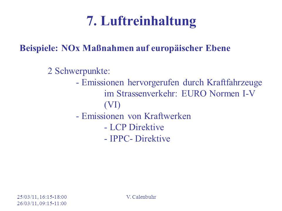 7. Luftreinhaltung Beispiele: NOx Maßnahmen auf europäischer Ebene