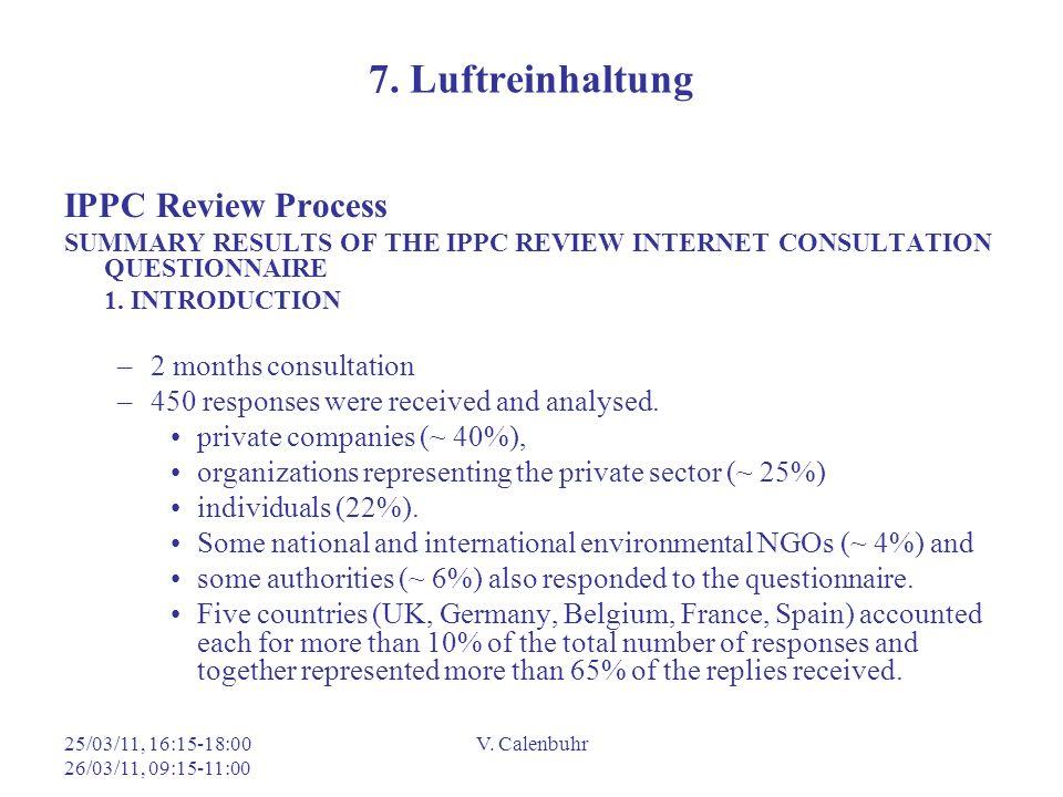 7. Luftreinhaltung IPPC Review Process 2 months consultation