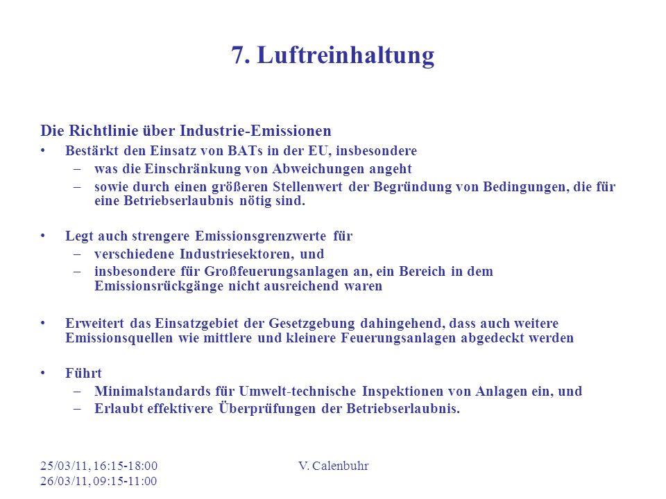 7. Luftreinhaltung Die Richtlinie über Industrie-Emissionen