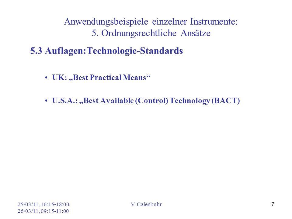 5.3 Auflagen:Technologie-Standards