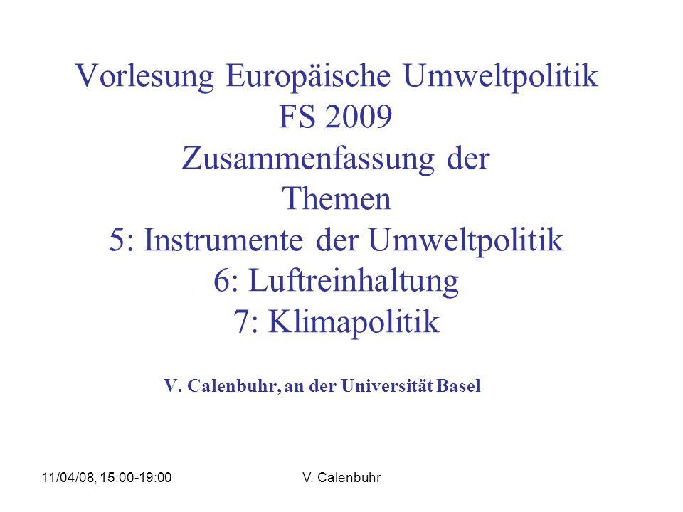 V. Calenbuhr, an der Universität Basel