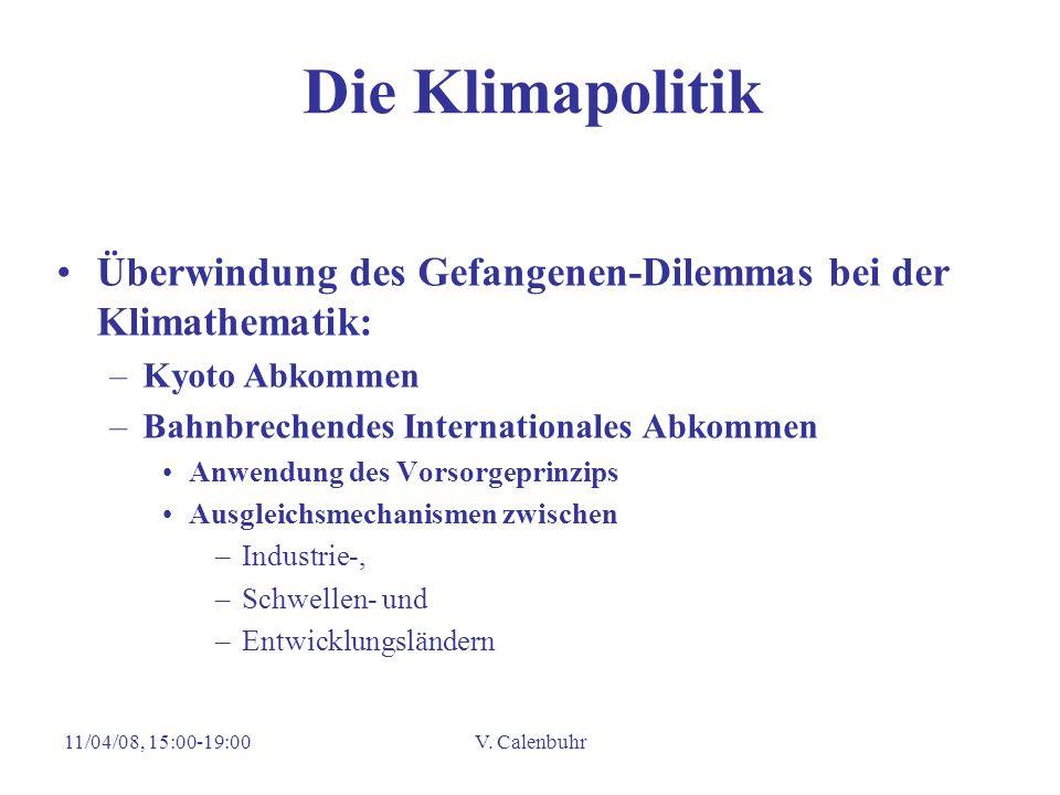 Die Klimapolitik Überwindung des Gefangenen-Dilemmas bei der Klimathematik: Kyoto Abkommen. Bahnbrechendes Internationales Abkommen.