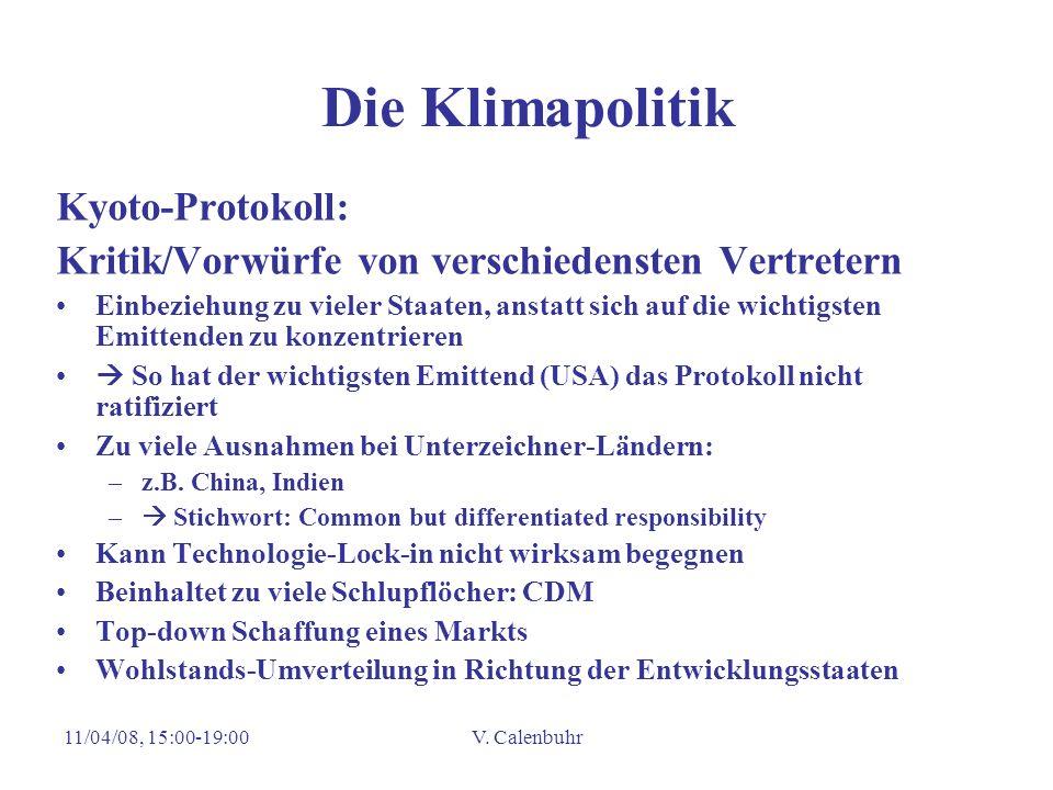 Die Klimapolitik Kyoto-Protokoll: