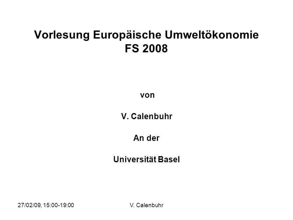 Vorlesung Europäische Umweltökonomie FS 2008