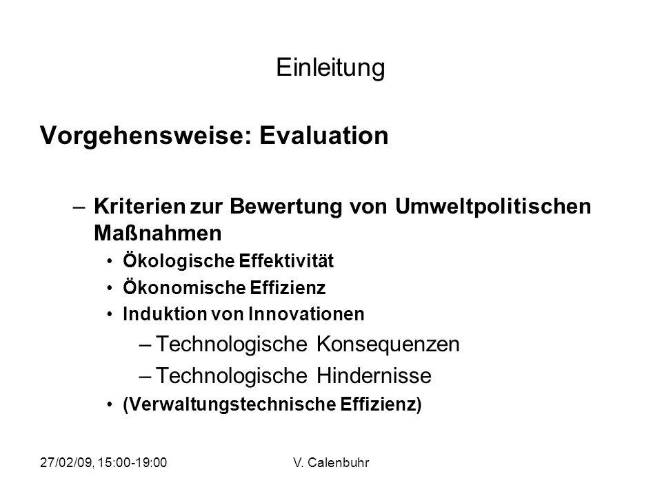 Vorgehensweise: Evaluation