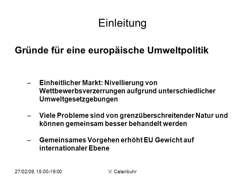 Einleitung Gründe für eine europäische Umweltpolitik
