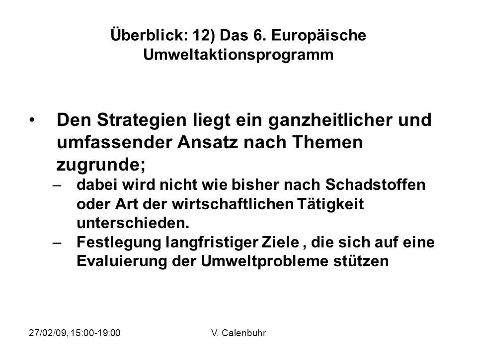 Überblick: 12) Das 6. Europäische Umweltaktionsprogramm