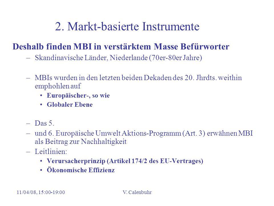2. Markt-basierte Instrumente