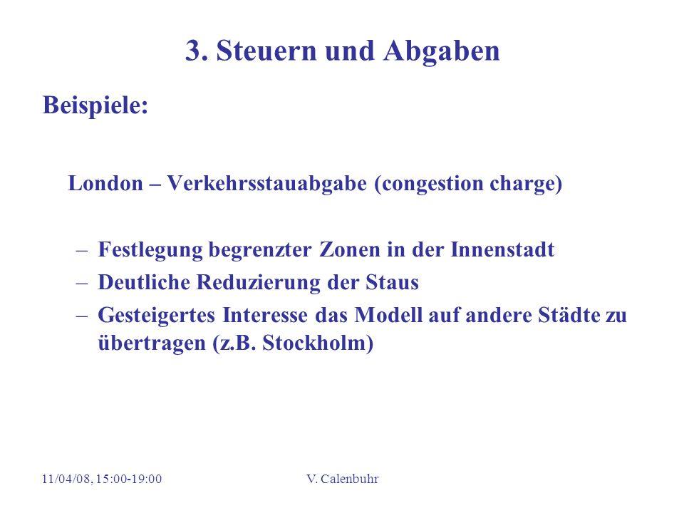 3. Steuern und Abgaben Beispiele: