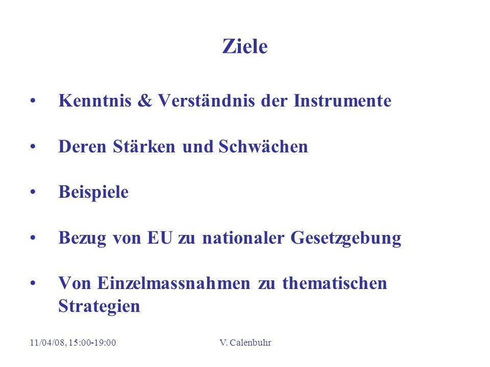 Ziele Kenntnis & Verständnis der Instrumente