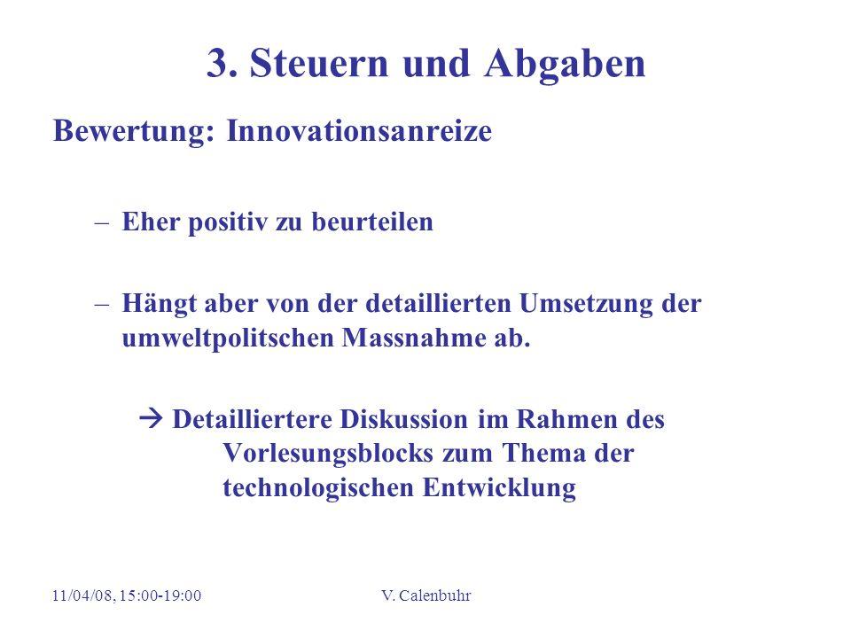 3. Steuern und Abgaben Bewertung: Innovationsanreize