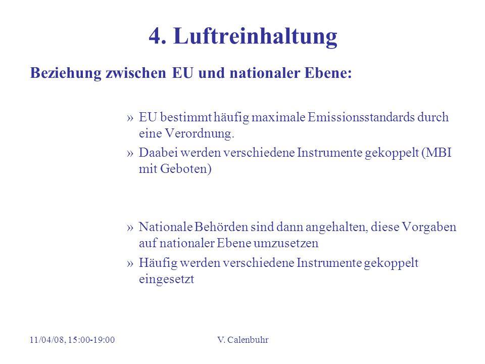 4. Luftreinhaltung Beziehung zwischen EU und nationaler Ebene: