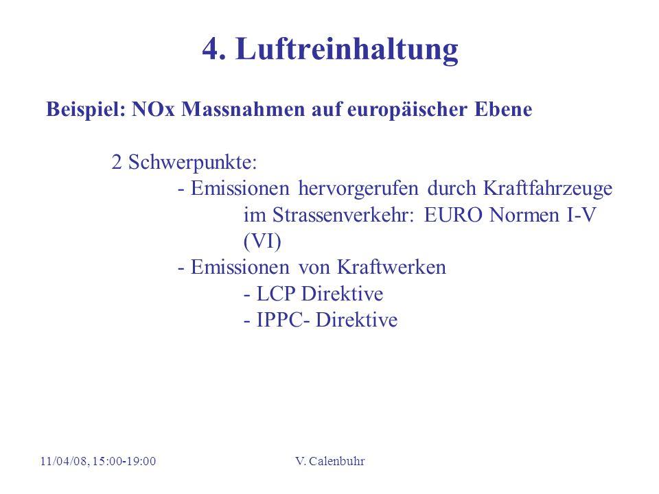 4. Luftreinhaltung Beispiel: NOx Massnahmen auf europäischer Ebene