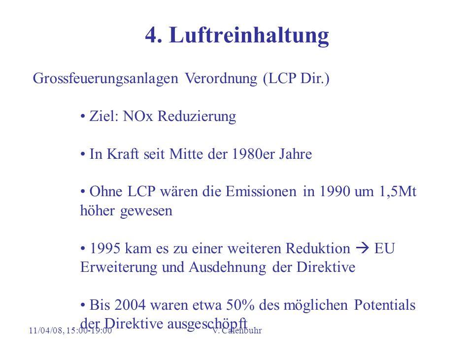 4. Luftreinhaltung Grossfeuerungsanlagen Verordnung (LCP Dir.)