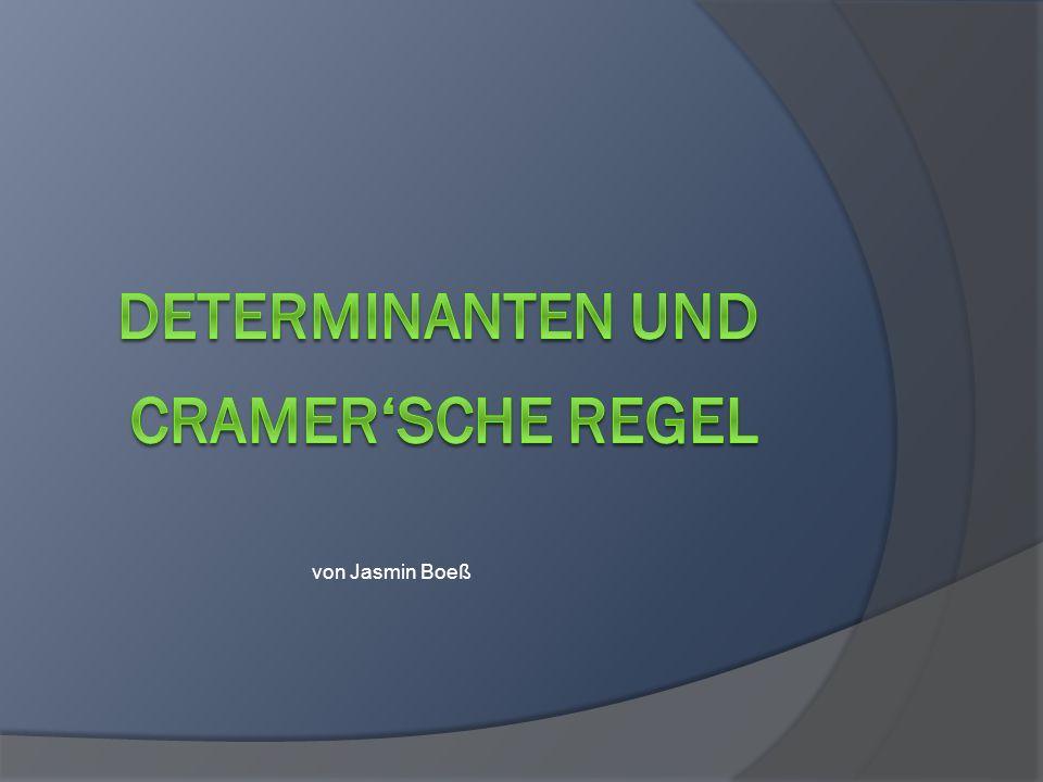 Determinanten und Cramer'sche Regel